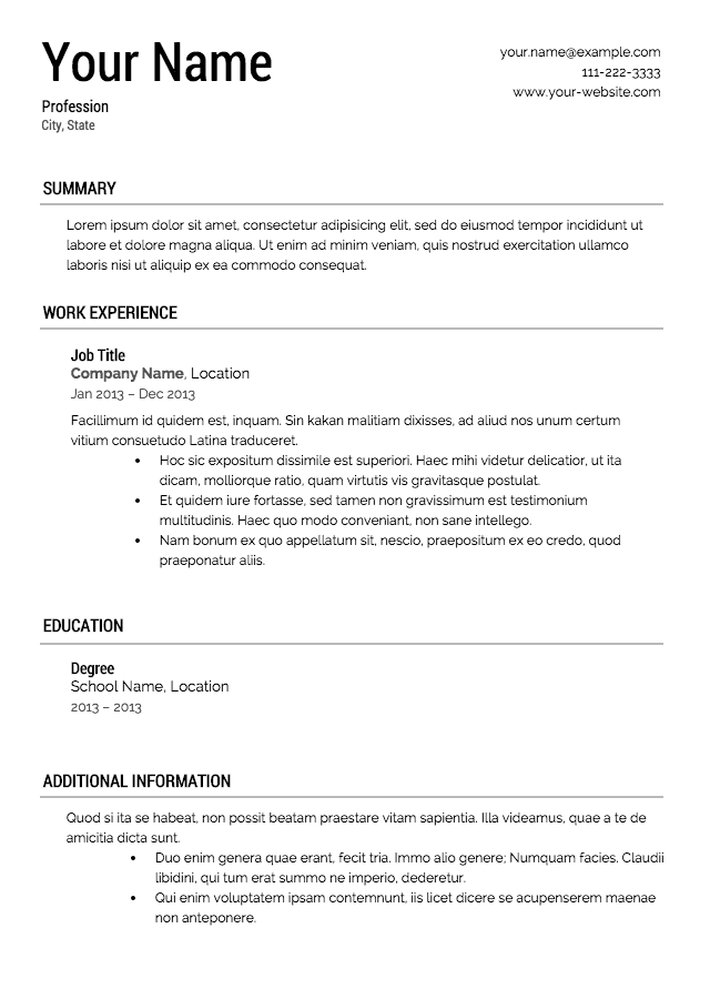 Resume Building For High School Students