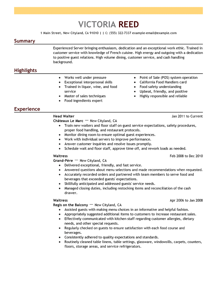 how to write a business resume